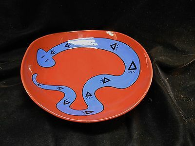 Pottery bowl with a Southwestern style Rattle Snake Design signed Steph