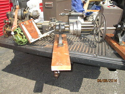 "MACHINIST LATHE MILL 9"" Antique Seneca Falls Lathe  Approx 20"" Between Centers"