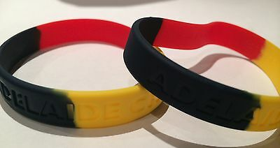 Adelaide Crows AFL Team Coloured Rubber Wristbands * 2 Per Packet