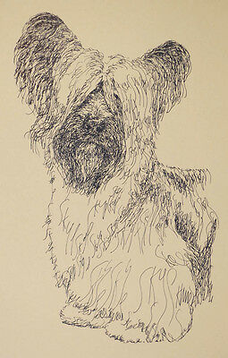 Skye Terrier Dog Art Portrait Print #27 Kline adds dog name free. WORD DRAWING