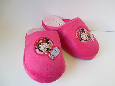 Girls Pink Minnie Mouse Slippers UK Sizes 8 - 13 Minnie