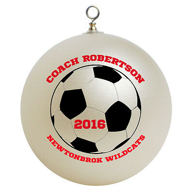 Personalized Custom Soccer Coach Christmas Ornament