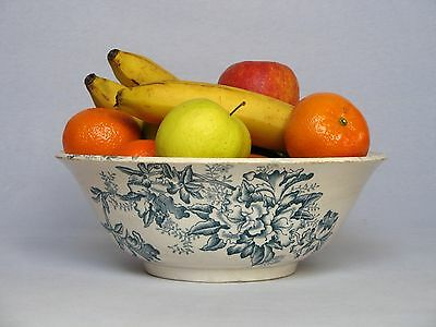 Late1800s ANTIQUE French IRONSTONE SERVING BOWL, in excellent overall condition