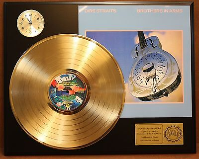 Dire Straits - 24k Gold LP Record & Clock Display Free Priority Shipping In USA