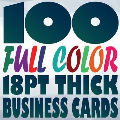 100 18pt BUSINESS CARD Printing on Two Sides Full Color UV Gloss or Uncoated