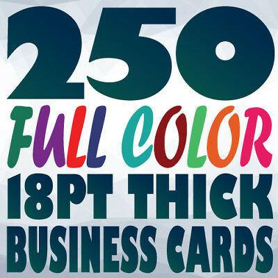 250 18pt BUSINESS CARD Printing on Two Sides Full Color UV Gloss or Uncoated