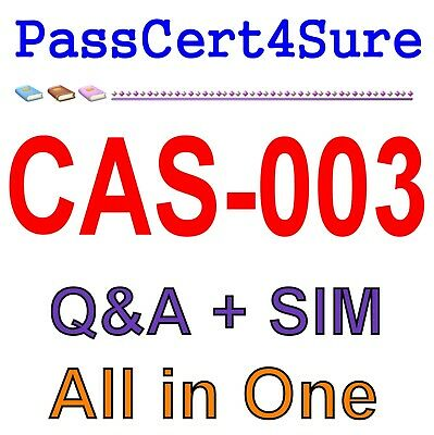 CompTIA Advanced Security Practitioner (CASP) CAS-003 Exam Q&A PDF+SIM