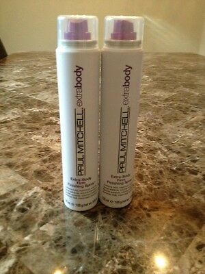 Lot Of 2 Paul Mitchell Extra Body Firm Finishing Spray 3.8 oz