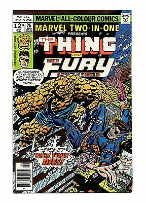Marvel Two-In-One No 26 Apr 1977 (VFN) Thing & Nick Fury
