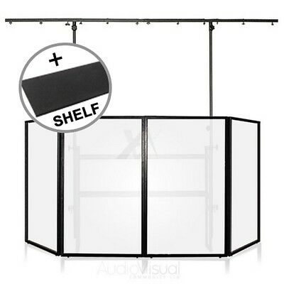 Gorilla Mobile DJ 4ft Disco Stand Lighting Booth Screen Pro Rig inc Shelf