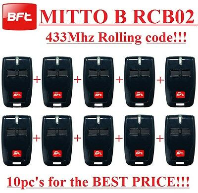 10 X BFT Mitto B RCB02 R1 2-channel remote, 433,92Mhz,New Version of  BFT Mitto2