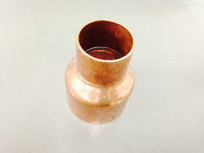 "2"" x 1-1/4"" Copper Coupling Reducer CxC Sweat Plumbing Fitting"
