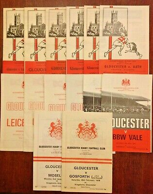 Gloucester Rugby Programmes 1958 - 2009