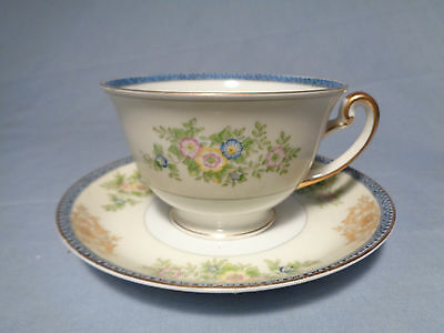 Meito of Japan Hand Painted China CUP and SAUCER SET
