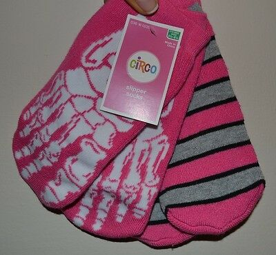 2 Pack Girls Slipper Socks Pink Circo Soft Warm and Cozy Valentines Day Gift