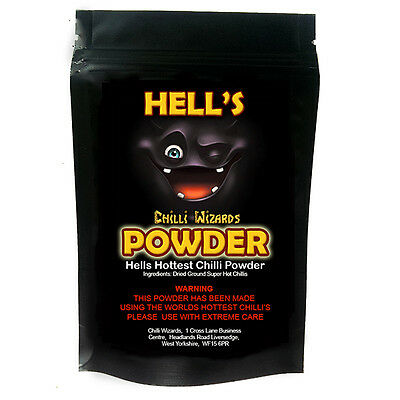 Chilli Powder. Hells Powder - Ghost Pepper - Moruga Scorpion - Carolina Reaper