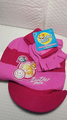 Zhuzhu Cold Weather Set Pink Color Hat Gloves New With Tag One Size Striped