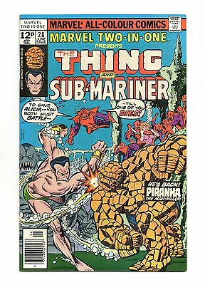 Marvel Two-In-One No 28 Jun 1977 (VFN) Thing & Sub-Mariner