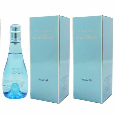 Davidoff Cool Water Woman - Women 2 x 100 ml Eau de Toilette EDT Set