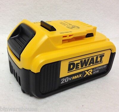 DeWalt DCB204 NEW 20V MAX XR 4.0 Ah Lithium Ion Battery Out Of Package - 2016