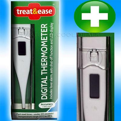 Digital Thermometer Includes Fever Alarm Fast Read Time Lcd Display In Clear Box