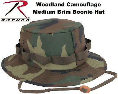 881d78bd09a8b Woodland Camouflage Military Style Boonie Hat Bucket Hat Jungle Hat Rothco  5547