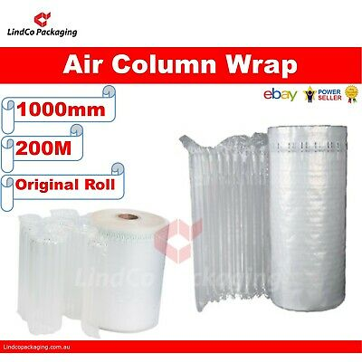 1000mm x 200m (meter) Column Air Wrap Best for white goods or furniture removals