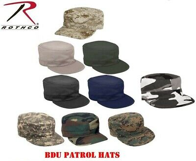 Camouflage Hat Military Style Patrol Hat Fatigue Cap Army Navy Air Force Marine