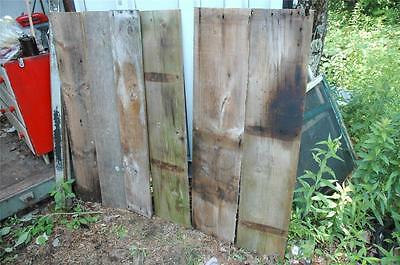 "6 Pieces Antique Vintage Early 1900s Rustic Barn Board Wood Lumber 49"" x 7-11"""