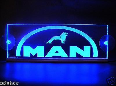 24V LED Cabin Interior Light Plate for MAN Truck Laser Engraved Neon Table Sign