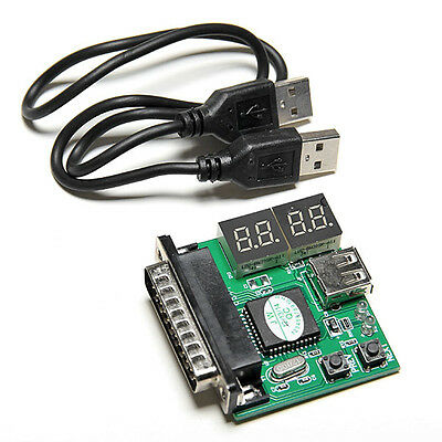 4-Digit PC Analyzer Diagnostic Motherboard Tester USB Post Powerful Test Card JB