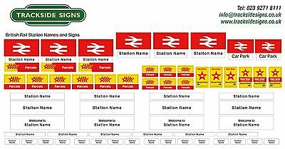 British Rail Station Name Signs - OO Gauge 4mm - Model Railway - Trackside Signs
