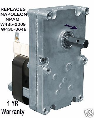 Napoleon  Auger  Feed  Motor - 1 Rpm Cw  [Xp7000]  Npam    W435-0009   W435-0048