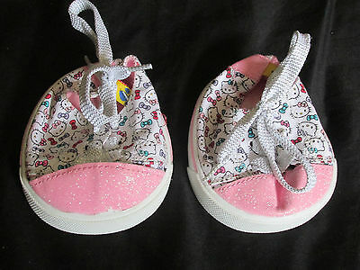Build A Bear Hello Kitty Sneakers Tennis Shoes in Excellent Condition! Rare HTF