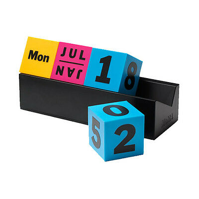 MoMA Cubes Perpetual Calendar - Eight Cubes Colorful Office Accessories Decor