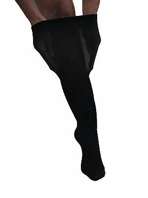 "63:Freesize Knee Highs - luxury item- for thick legs - 20"" calf, deep soft welt"