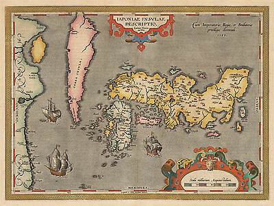 HJB-AntiqueMaps: Map of Japan and Korea  By: Abraham Ortelius  Date: 1603