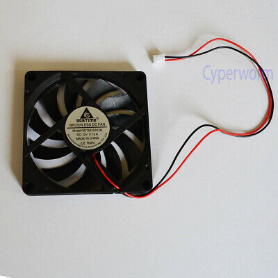 Black 12V 80mm x 10mm Brushless PC cooling Fan cooler 2 Pin