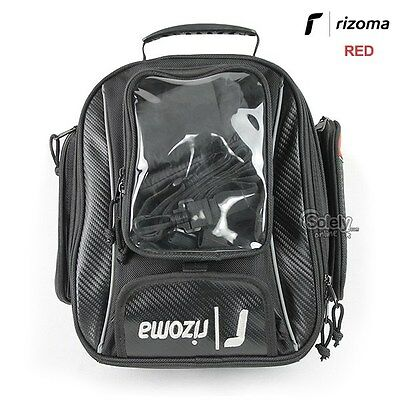 Rizoma Motorcycle Fuel Tank Bag 11L Magnetic Lock 2 in 1 Design Backpack Red