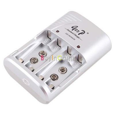 Battery Charger for 4x Ni-Mh Ni-Cd AA AAA 9V Rechargeable Battery