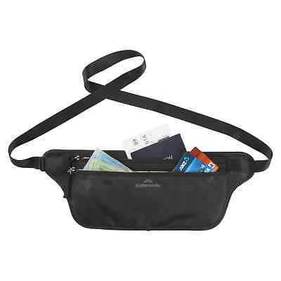 Kathmandu RFID Around Waist Adjustable Pocket Money Passport Holder Belt Black