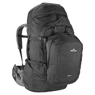 Kathmandu Entrada Travel Hiking Camping Backpack Rucksack 65L v2 Black