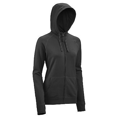 Kathmandu Womens DriCotton Full Zip Hoodie Warm Hooded Fleece Jacket Black