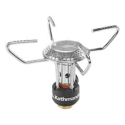 Kathmandu Robust Compact Travel Camping Stainless Steel Backpacker Stove Grey