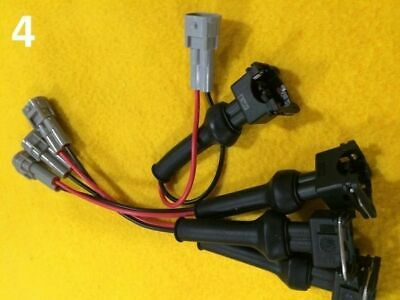 4 x Adapter changing Fuel Injector with Nippon DENSO (Toyota) plug to Bosch EV1