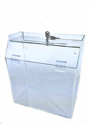 "Marketing Holders Acrylic Ballot Suggestion Donation Box 9 "" w x 10 "" h x 5 "" d"