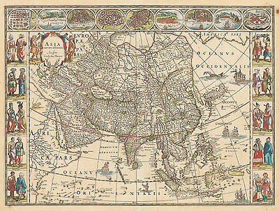 HJB-AntiqueMaps: Map of Asia  By: Willem Blaeu  Date: 1635 Amsterdam