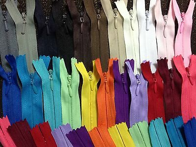 """Invisible Concealed Zips 7""""-22"""" (56 cm) Lovely Colours ,Industrial Quality *"""