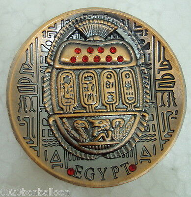 Metal Egyptian SCARAB  Ancient Fridge Magnet Handmade Engraved Hieroglyphic  206