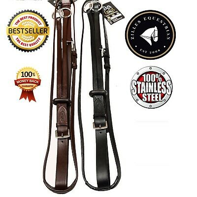 High Quality Soft Leather Running Martingale With Free Rubber Stop. Great Value
